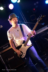 Junpei on Bass Photo by Y.Watanabe